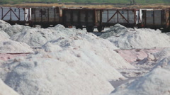 Salt mining in Sambhar, accident - train derails Stock Footage