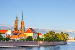 View of the Cathedral of St. John in Wroclaw, Poland Stock Photos