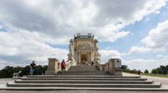 Steps at the Gloriette time lapse Stock Footage