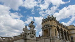 Time lapse of the side of the Gloriette Stock Footage