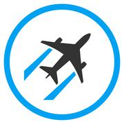 Air Jet Trace Rounded Icon - stock illustration