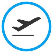 Airplane Departure Rounded Icon Piirros