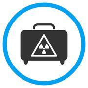 Dangerous Luggage Rounded Icon Stock Illustration