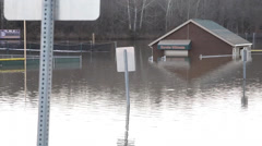 Flooded School Ground Stock Footage