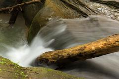 Stock Photo of Tranquil stream cascading at Hocking Hills State Park