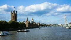 River Thames at the Dock Stock Footage
