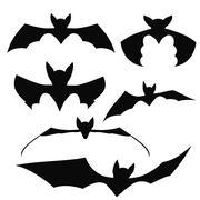 Bats Black Silhouettes Piirros