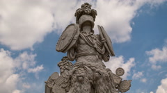 Time lapse of a detail of the Gloriette Stock Footage