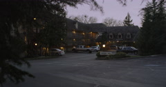 Evening at an inn in Grants Pass area in Oregon Stock Footage