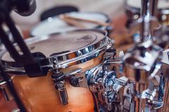 Drum set. Close-up - stock photo