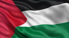 Flag of Palestine - stock photo