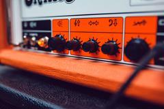 Audio Mixer. Amplifier - stock photo