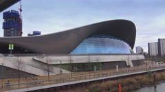 London Olympic Park - Aquatics centre - stock footage