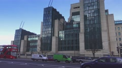 Secret Intelligence Service MI6 Building Stock Footage