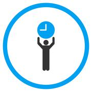 Time Manager Circled Icon Stock Illustration