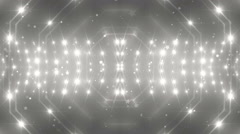 VJ Fractal silver kaleidoscopic background. - stock footage