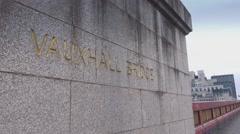 Vauxhall Bridge London Stock Footage