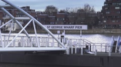 St George Wharf Pier Stock Footage