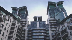 Modern Apartments at St. George Wharf - stock footage