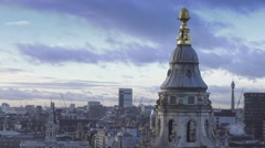 Famous St. Paul's rooftop in London - stock footage