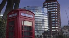 Modern buildings at Albert Embankment - stock footage
