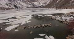 Semi Frozen Lake - stock footage