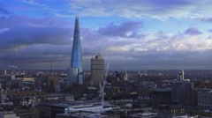 London with the Shard building - great sky Stock Footage