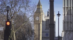 Queen Elizabeth Tower on a sunny day Stock Footage