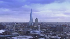 Shard Building in London Stock Footage