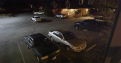 surveillance footage of inn parking lot near Grants Pass, Oregon - stock footage
