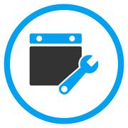 Calendar Tuning Rounded Icon Stock Illustration