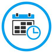 Stock Illustration of Date And Time Rounded Icon