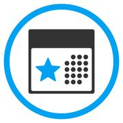 Stock Illustration of Holiday Calendar Rounded Icon