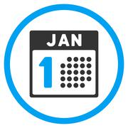 Stock Illustration of January First Rounded Icon