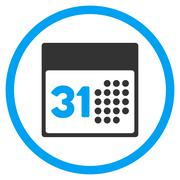 Last Month Day Rounded Icon - stock illustration
