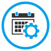 Stock Illustration of Schedule Options Rounded Icon