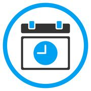 Time Schedule Rounded Icon - stock illustration