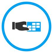 Timetable Properties Rounded Icon - stock illustration
