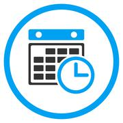 Timetable Rounded Icon Stock Illustration