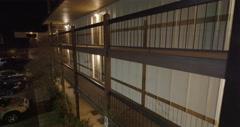 Surveillance footage of inn balconies near Grants Pass, Oregon Stock Footage