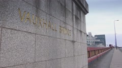 Vauxhall Bridge in London Stock Footage