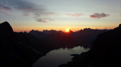 Stock Video Footage of Beautiful midnight sun on Lofoten in Norway