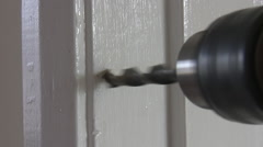 Drilling door frame - stock footage