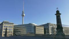 4 Berlin German City Germany Europe Urban View Landscape Buildings Stock Footage