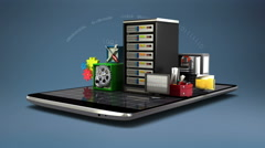 Explain various security server service for Smart phone, mobile 2 Stock Footage