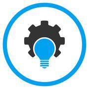 Bulb Configuration Rounded Icon - stock illustration