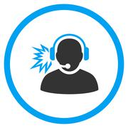 Operator Message Rounded Icon Stock Illustration