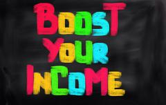 Boost Your Income Concept - stock illustration