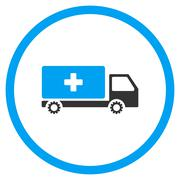 Service Car Rounded Icon - stock illustration
