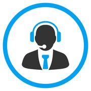 Support Manager Rounded Icon - stock illustration
